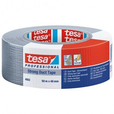 Tesa 4662 - nastro telato Extra Forte grigio - 50x48