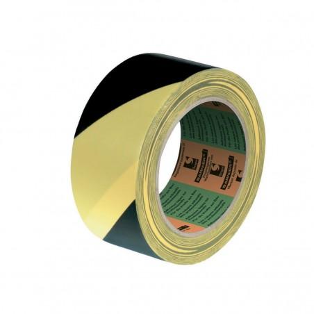 Nastro Segnalinee PVC - bianco/rosso -  giallo/nero  - 50 mm x 33mt