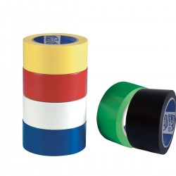 Nastro Segnalinee PVC - 6 colori - 13µm - 50 mm x 33mt