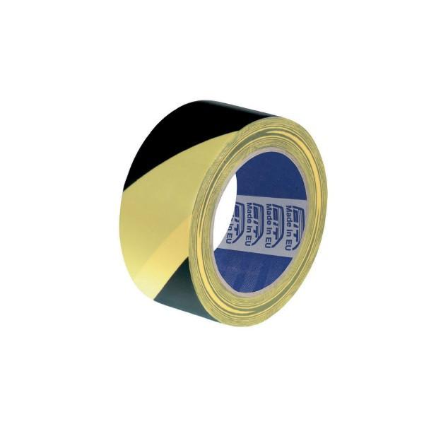 Nastro Segnaletico Giallo e Nero - 200mt x 70mm