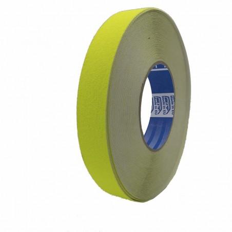 Antisdrucciolo giallo fluo calpestatile - 18,3 mt x 25 mm