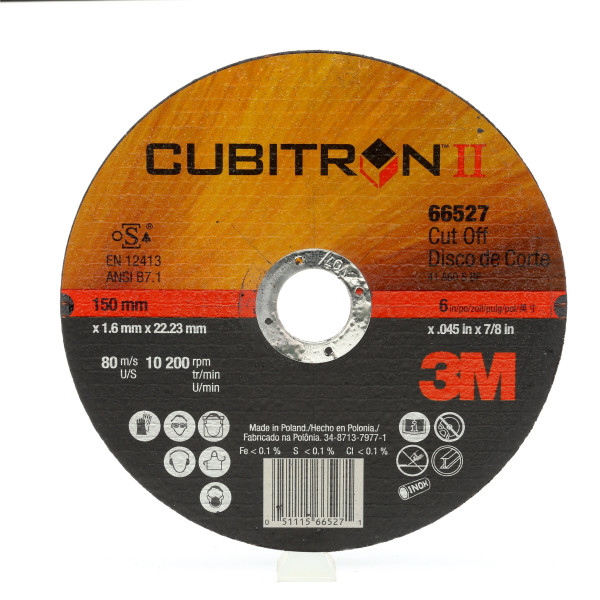 3M™ Cubitron™ II Disco da taglio T41 230 mm 2 mm 22 mm PN 65463