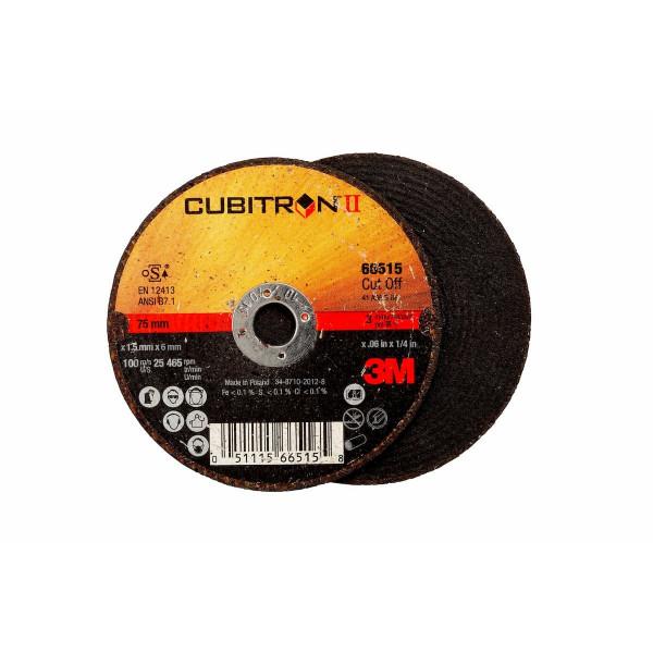 3M™ Cubitron™ II Disco da taglio T41 125 mm 1 mm 22 mm PN 65512