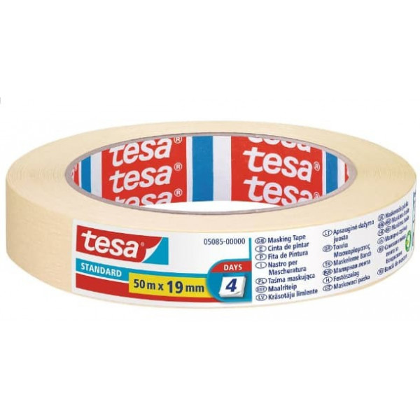 TESA 5085 Nastro adesivo in Carta per Mascheratura Standard 50x19