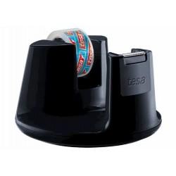 TESA 53827 Easy Cut Dispenser Compact Nero con Crystal Clear 10x15
