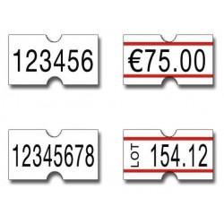 Etchette 21x12 Riga Rossa Rettangolare - Adesivo Permanente