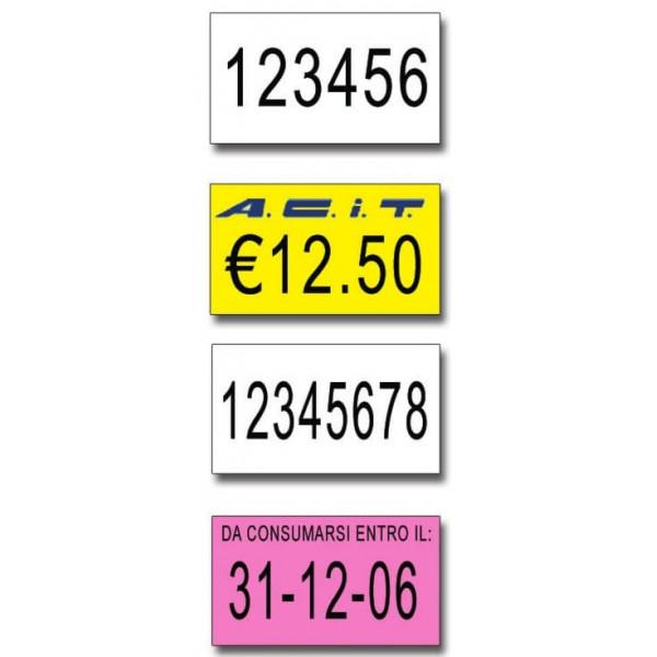 Etichette 22x12 - Bianche - Rettangolare - Adesivo Removibile
