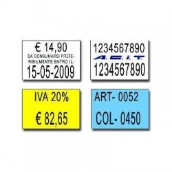 Etichette 16x23 - Bianche- Rettangolari- Adesivo Permanente