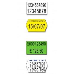 Etichette 26x16 - Bianche - Sagomata - Adesivo Permanente